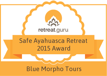 Safe Ayahuasca Retreat 2015 Award - Blue Morpho Shamanic Ayahuasca & Sacred Plant Retreats
