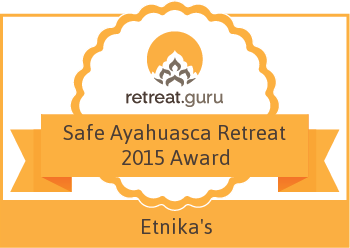 Safe Ayahuasca Retreat 2015 Award - Etnika's - Shamanic healing center