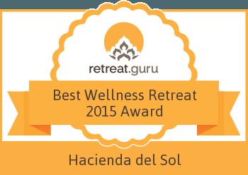 Best Wellness Retreat 2015 Award - Hacienda del Sol