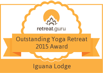 Outstanding Yoga Retreat 2015 Award - Iguana Lodge Beach Resort and Spa