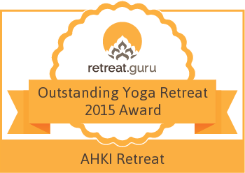Outstanding Yoga Retreat 2015 Award - AHKI Retreat